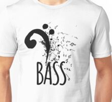 Bass Clef Music Notes Abstract Unisex T-Shirt