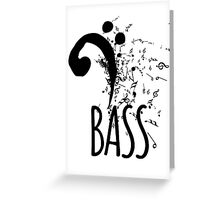 Bass Clef Music Notes Abstract Greeting Card