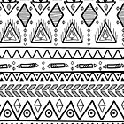 Abstract geometric tribal print by Xinnie