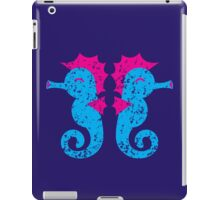 Two seahorses distressed version iPad Case/Skin