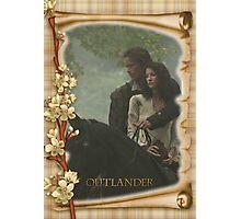 Outlander/Jamie & Claire on horseback  Photographic Print