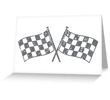 Two checkered racing  flags Greeting Card