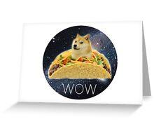 Taco Doge Greeting Card