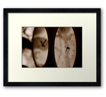 Time and Temperature Framed Print