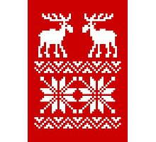 Moose Pattern Christmas Sweater Photographic Print