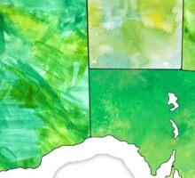 Watercolor Countries - Australia Gold/Green Sticker
