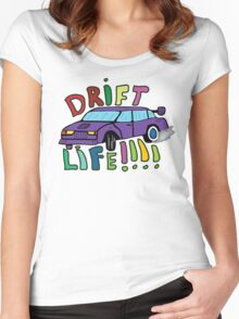 Drift Life - Drawn Women's Fitted Scoop T-Shirt