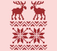 Moose Pattern Christmas Sweater Kids Clothes