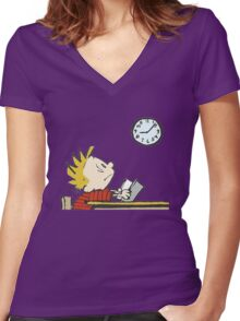 clock stand by  Women's Fitted V-Neck T-Shirt