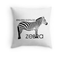Ehlers-Danlos Zebra Throw Pillow