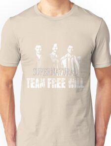 Supernatural Team Free Will White silhouette Unisex T-Shirt