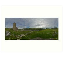 Glencolmcille Panorama with Church Art Print