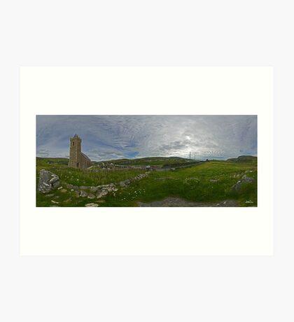 Glencolmcille Panorama with Church Art Print