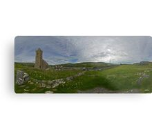 Glencolmcille Panorama with Church Metal Print