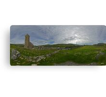 Glencolmcille Panorama with Church Canvas Print