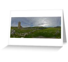 Glencolmcille Panorama with Church Greeting Card