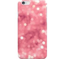 Pink bokeh iPhone Case/Skin