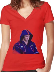 Phelps Face Women's Fitted V-Neck T-Shirt