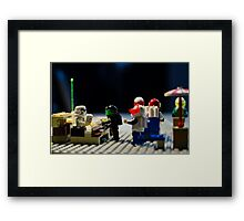 Dark Side Cafe Framed Print