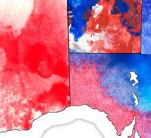 Watercolor Countries - Australia Red/White/Blue Sticker