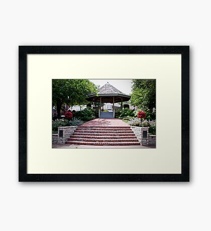 The Beautiful Riverfront Gardens Framed Print