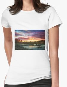 Ipswich river sunset Womens Fitted T-Shirt