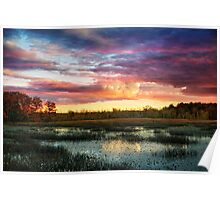 Ipswich river sunset Poster