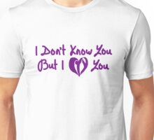 I Don't Know You But I CTY You (Purple) Unisex T-Shirt