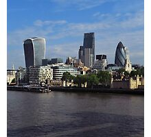 London Skyline from Tower Bridge Photographic Print