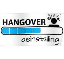 Hangover deinstalling Poster