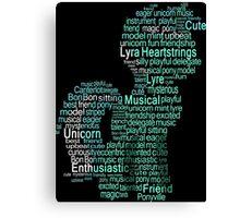 My Little Pony - Lyra Heartstrings Typography Canvas Print