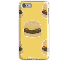 Delicious Burger Pattern iPhone Case/Skin