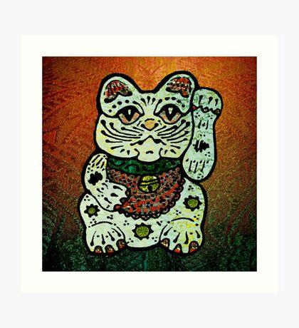 'Shiny Lucky Cat #3' Art Print