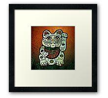 'Shiny Lucky Cat #3' Framed Print