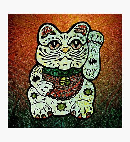 'Shiny Lucky Cat #3' Photographic Print
