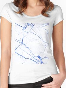 Marble Art V23 Women's Fitted Scoop T-Shirt