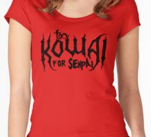 Too Kowai for Senpai (Black) Women's Fitted Scoop T-Shirt
