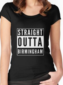 Straight Outta Birmingham Women's Fitted Scoop T-Shirt