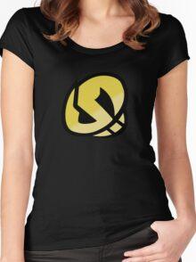 Team Skull Gold Logo - Pokemon Sun & Moon Women's Fitted Scoop T-Shirt