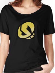 Team Skull Gold Logo - Pokemon Sun & Moon Women's Relaxed Fit T-Shirt