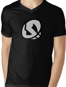 Team Skull Logo- Pokemon Sun & Moon Mens V-Neck T-Shirt