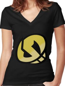 Team Skull - Pokemon Sun & Moon Women's Fitted V-Neck T-Shirt
