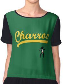 Kenny Powers 55 Charros Home Baseball Shirt Eastbound and Down Chiffon Top