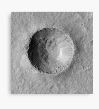 Mars Crater Canvas Print
