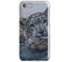 Snow Leopard Cub in Oil on Canvas iPhone Case/Skin