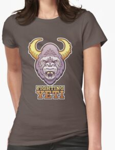 Fighting Yeti Sports Logo Womens Fitted T-Shirt
