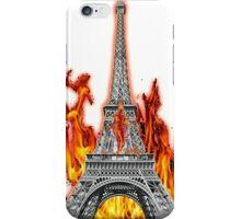 Fired Eiffle Tower iPhone Case/Skin