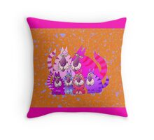 Purrrrfect in pink Throw Pillow