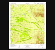 USGS TOPO Map Arizona AZ Tombstone SE 313763 1952 24000 Unisex T-Shirt