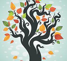 Autumn tree by Tatsiana Kandrashova